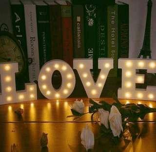 Led Letter and Fairylights