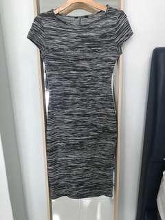 New look Capsleeve Charcoal Grey Bodycon Dress
