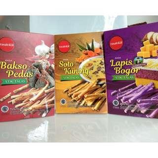 Stik Talas Rasa Lokal Bakso Pedas Soto Kuning Lapis Bogor Rasalokal