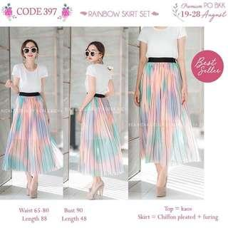 1set skirt n top