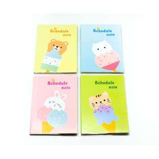 SOLDOUT  Large Monthly Planner Cute Animal with Ice-cream Theme