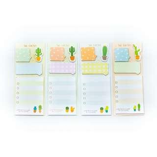 Large Cactus Post It Tab Set