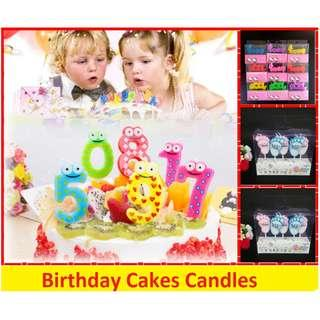 cartoon candles number candles birthday party baby shower candle kids children bday cake cakes