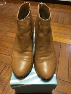 Tsumori chisato brown leather ankle boots