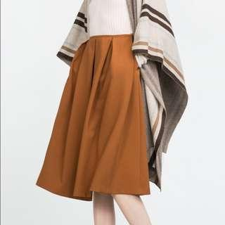 Zara Midi Skirt in Beige