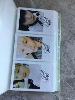 bts suga unofficial signed photocard