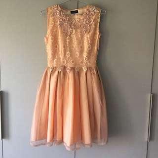 Coexist Pippa Dress in Peach