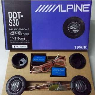 "Alpine DDT-S30 25MM 1"" Soft Dome Balanced Car Tweeters 360W"