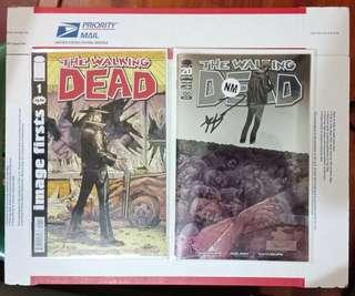 The Walking Dead comics variant hand signed autograph