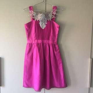 Coexist Anne Dress in Magenta