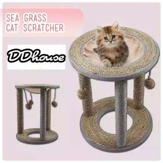 Seagrass Cat scratchers Sea Grass & Sisal Scratch Playground Cat resting station cat scractching Posts Cat bed Cat trees cat condos cat climbers Seagrass Scratching Post