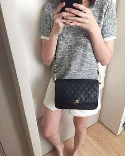AUTHENTIC CHANEL Medium Lambskin Flap Bag - Shoulder / Crossbody Bag