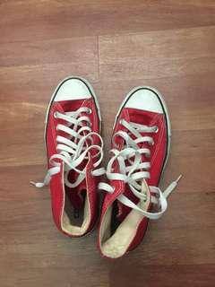 Authentic high cut CONVERSE red