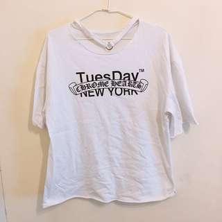 🚚 白色個性T恤