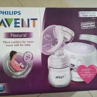 🚚 Philips AVENT 輕乳感單邊電動吸乳器 標準型 僅存主機和手動吸乳器  保存良好
