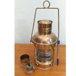 Vintage Antique Oil Lamp - Brass