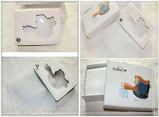 🚚 全新kipling名片夾信用卡夾純白色全新,沒包裝盒