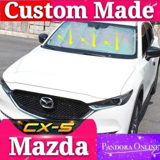 Mazda CX-5 Windscreen Dashboard Sunshade Aluminum foil Universal Reflective Car Front Window Sun Shade Windshield Visor Cover UV Protect For 2 Generation