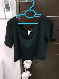 Black Crop Top (L to XL)