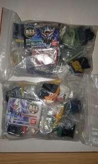 Bandai MSG 高達頭扭蛋 共2套 全齊散 共11隻。Gundam