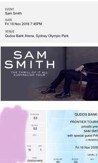 X2 SAM SMITH THE THRILL OF IT ALL CONCERT