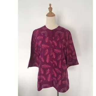 Pink & Purple Patterned Blouse