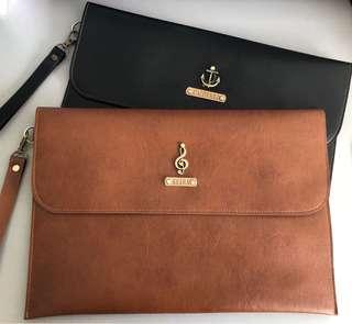 Laptop Sleeve Personalized Customized Leather Travel Computer Com Cover Holder