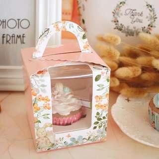 Cupcake box Floral (includes single cupcake insert)