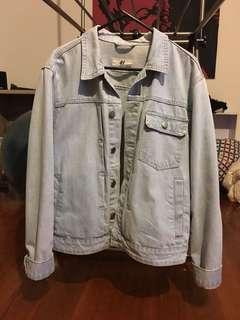 Over sized denim jacket