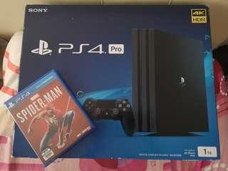 Ps4 Pro used + Spider-Man ps4
