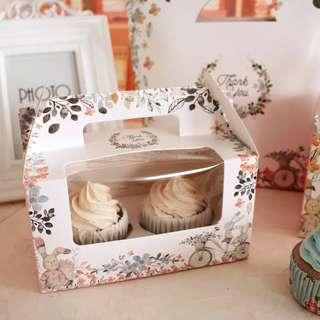 Cupcake box Floral (includes double cupcake insert)