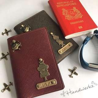 Travel Passport Cover Organizer Card Customised Personalised Holiday Wallet Office School Gift