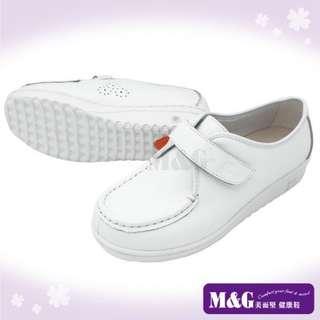 🚚 M&G美而堅 經典健康型護師鞋護士鞋CC06606(白色 72號)