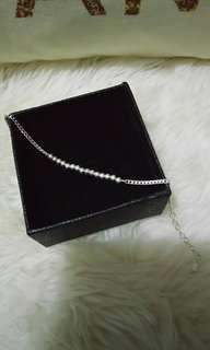 💯純銀活動圓珠扁鍊造型手鍊