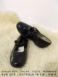 Stride rite girl tiddler mare jane pump flats black