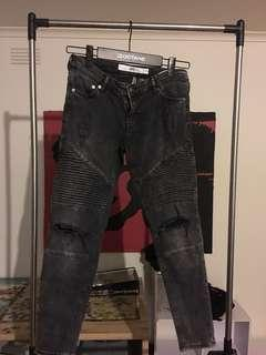 H&M ripped skinny jeans