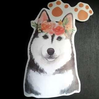 Siberian Husky Clear Wall Sticker