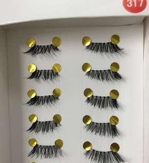 Handmade Soft Synthetic Eyelashes 10 pairs