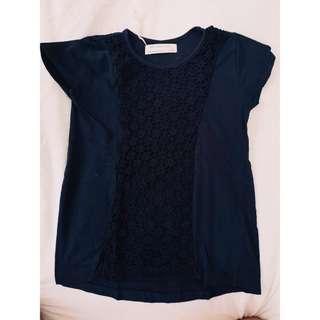 Zara girls top navy blue size 6