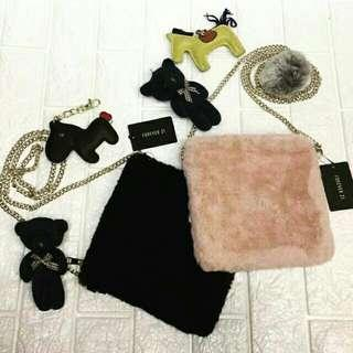 Forever21 Fur and Chain Slingbag
