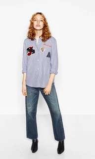 Authentic Zara Patch Shirt