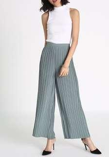 Pleated high waist wide leg pants