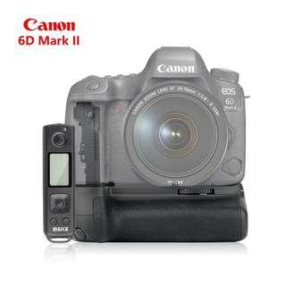 Meike MK-6D2 Pro Battery Grip Built-in 2.4GHz Remote Controller for Canon 6D II