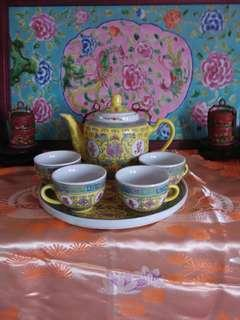 Chinese yellow teaset