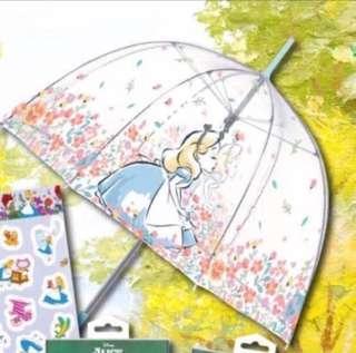 全新 7-11 愛麗絲透明直身雨傘 雨遮 愛麗斯 Alice