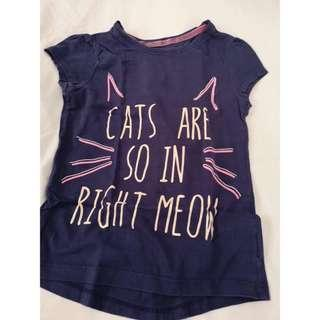Mothercare cats kids shirt size 7-8
