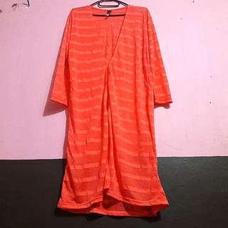 Long cardigan Orange