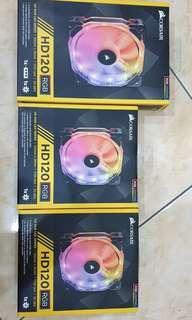 Corsair HD120 RGB with RGB Controller