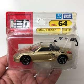 🚚 全新日本多美小汽車 TOMICA No. 64 金色保時捷跑車 Porsche Boxster 吊卡