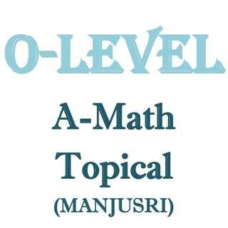 2017 Manjusri A Math topical revision / Sec 3 / Sec 4 / Additional Mathematics / school topical practices / exam papers / test papers / A Math / Additional Math